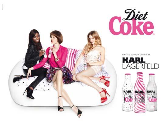 Karl Lagerfeld crea el diseño de la nueva Coca-Cola Light
