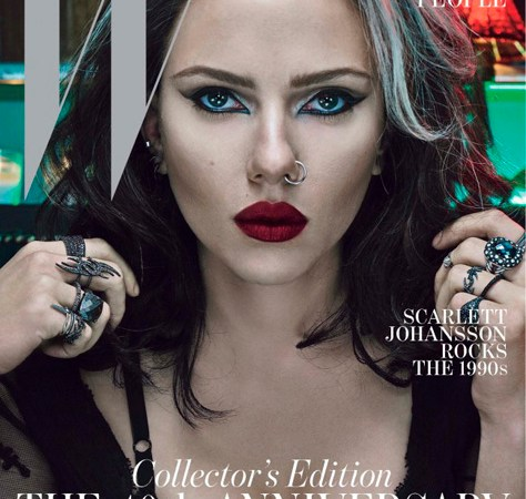 Labios rojo gótico para las celebrities