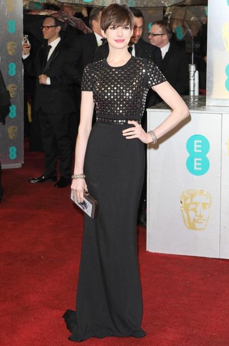 Anne Hathaway en los Premios BAFTA 2013