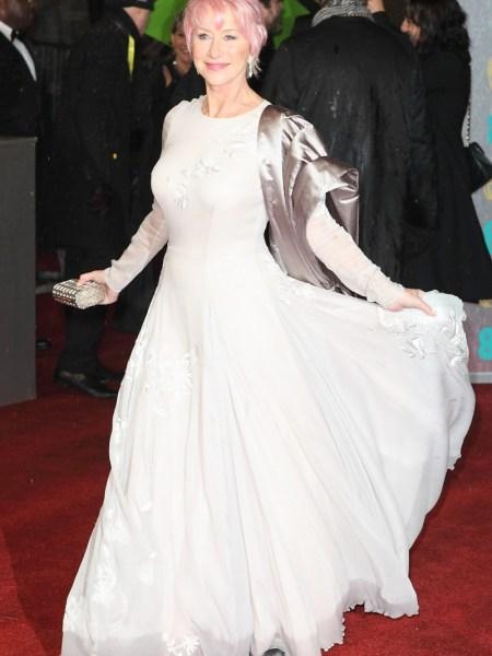 Helen Mirren en los Premios BAFTA 2013