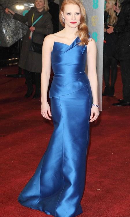 Jessica Chastain en los Premios BAFTA 2013
