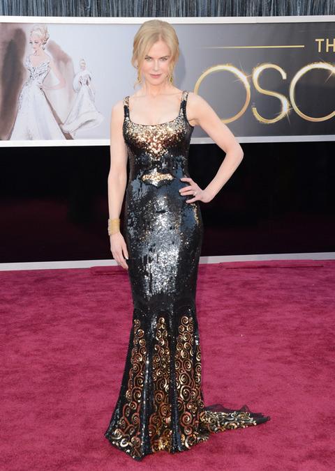 Nicole Kidman en la alfombra roja de los Premios Oscar 2013