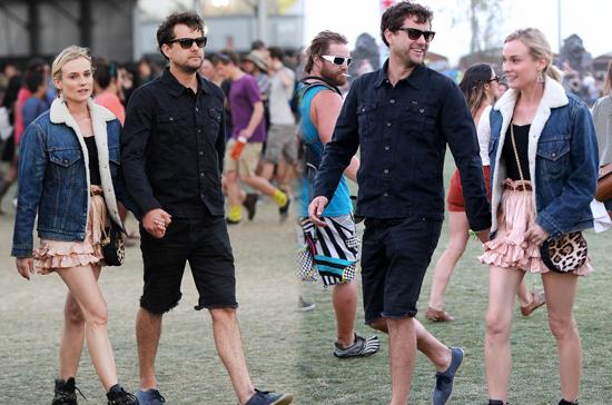 Diane Kruger y Joshua Jackson en Coachella 2013