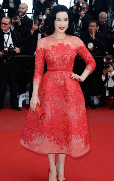 Diva Von Teese en Cannes 2013