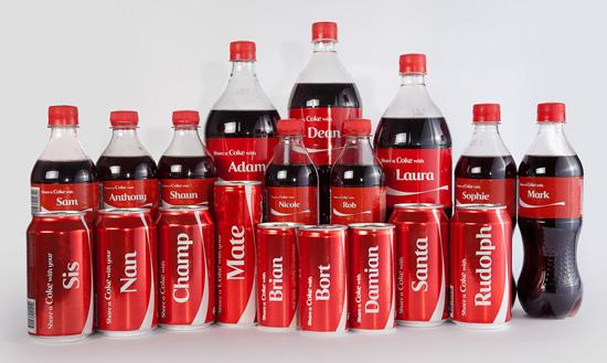 ¿Qué nombres puedes encontrar en las latas de Coca-Cola?