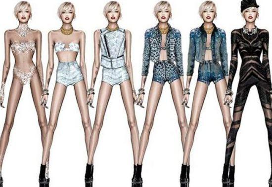 Diseños de Cavalli para Miley Cyrus
