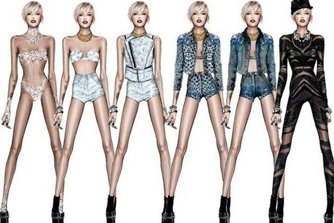 Roberto Cavalli diseña para Miley Cyrus
