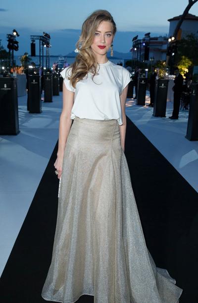 Amber Heard en el Festival de Cannes 2014
