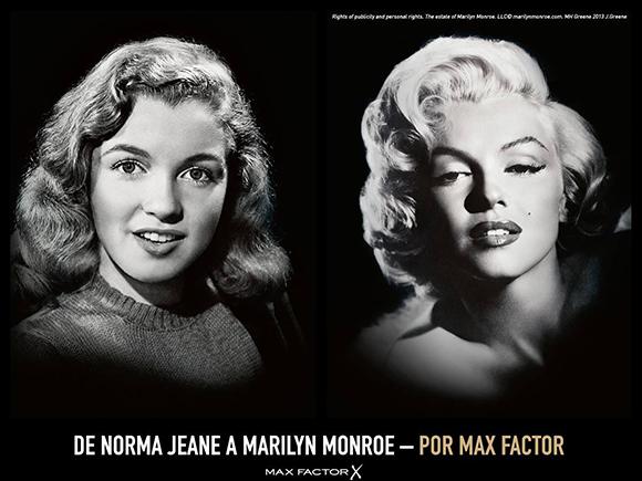 Marilyn Monroe se convierte en la nueva embajadora de MAX FACTOR