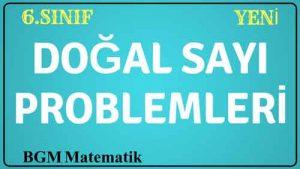 Doğal Sayı Problemleri Sorular Çözümlü örnekler VİDEO