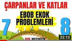 Ebob Ekok Problemleri  / 7'DEN 8'E LGS 2021 MATEMATİK KAMPI #3