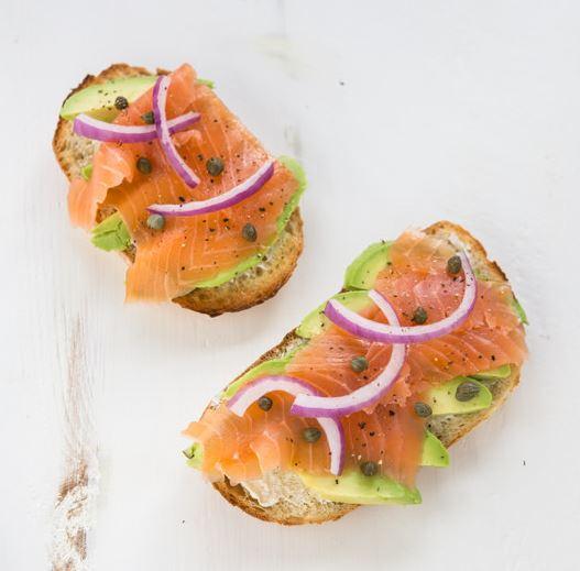 Salmon Avocado Toast from A Zesty Bite