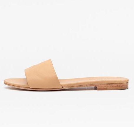 Nisolo Isla Slide Sandal Beige, $88, Photo Cred: Nisolo