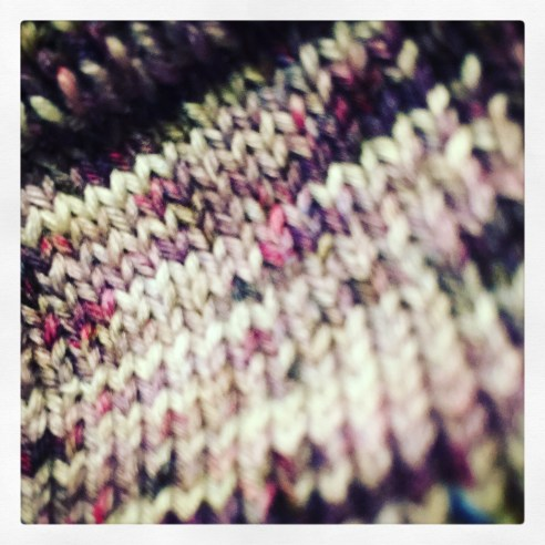 Hand knit closeup