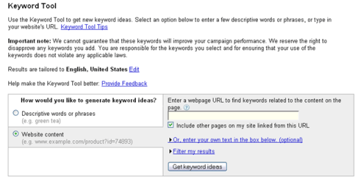 Google AdWords- Keyword Tool_1220713322211