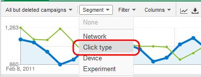 Click Type Segment in AdWords