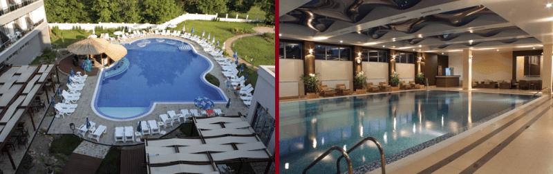 външен и вътрешен басейн на СПА Хотел АТА, 4 звезди в Стара Планина