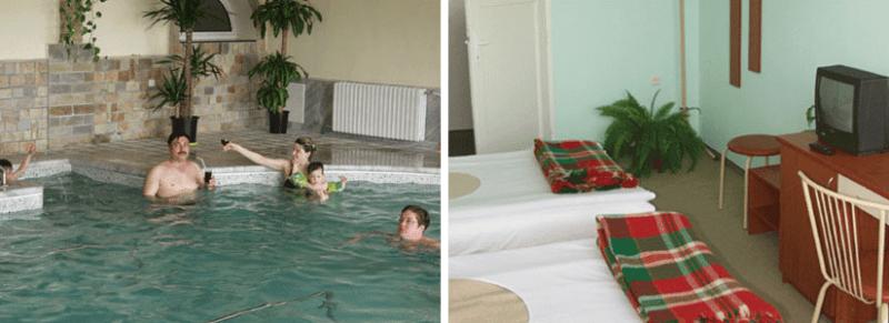 Басейн с минерална вода в Курортен Комплекс Милениум в Павел Баня