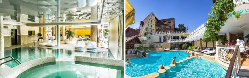 Външен и Вътрешен басейн на СПА Хотел Рич във Велинград
