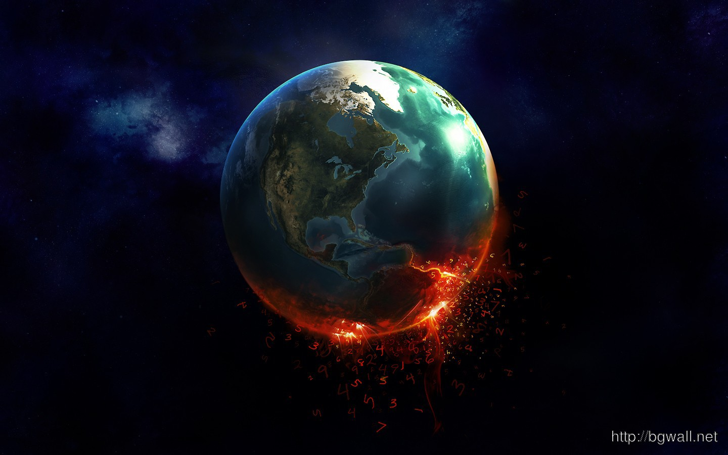 Burning Earth Hd Wallpaper Background Wallpaper Hd