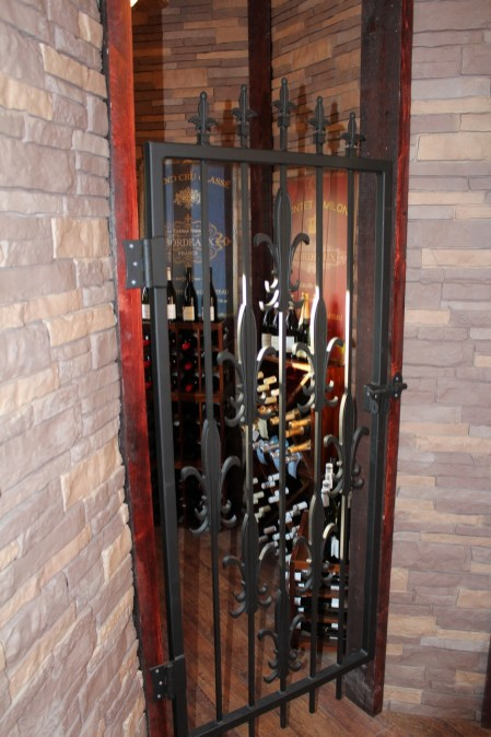 One of La Belle's towers has been converted into an imitation wine cellar.