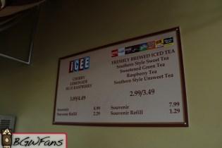 A closer look at the menu