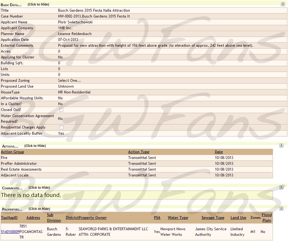 A screenshot of the new version of the 2015 Festa Italia permit