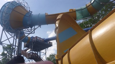 TornadoWAVE Quarter Pipe and stairs as seen from the queue