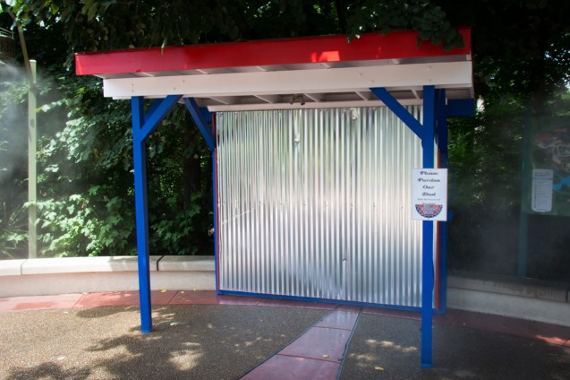 Future site of the Star Spangled Nights glow booth