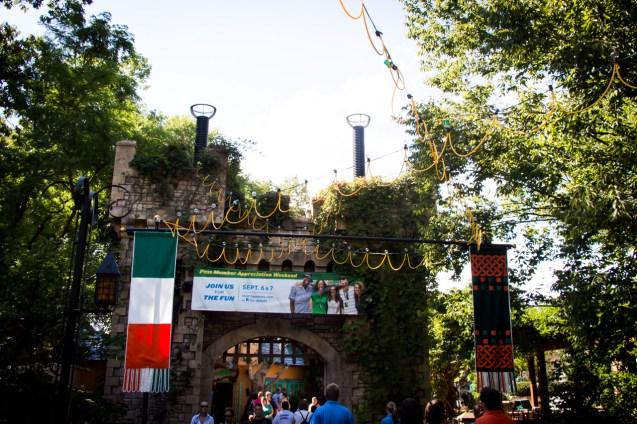 The entrance to Killarney has its Howl-O-Scream overlay