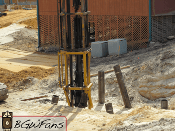 And as you can see, it's driving piles.