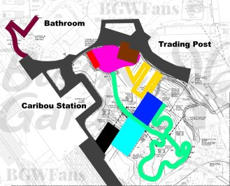Colorized Busch Gardens Williamsburg 2017 Site Plan