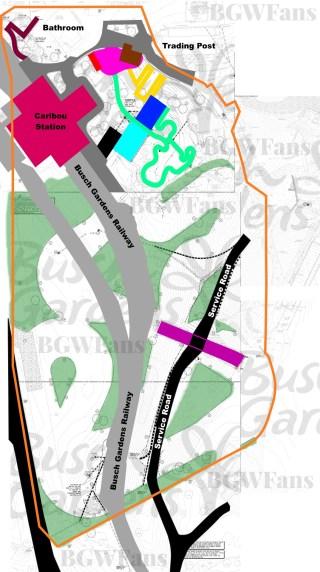 Full Colorized Busch Gardens Williamsburg 2017 Site Plan