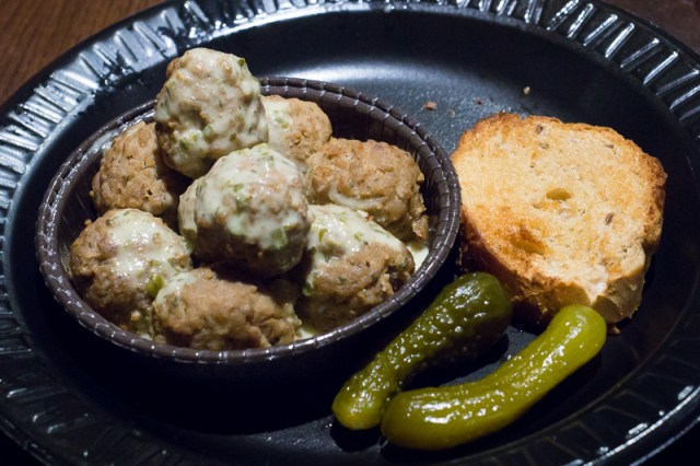 Busch Gardens Williamsburg Food and Wine Festival 2017 German Meatballs