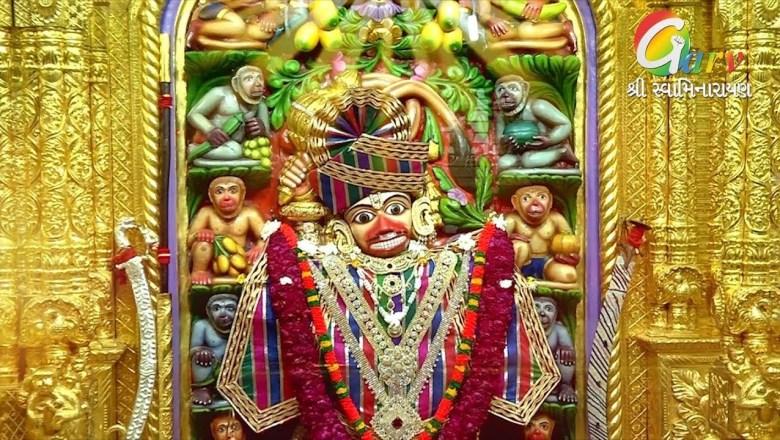 Hanuman Aarti Kastabhanjan Dev Salangpur Mandir Hanumanji Aarti –  Live Darshan Of Sarangpur Hanumanji Temple