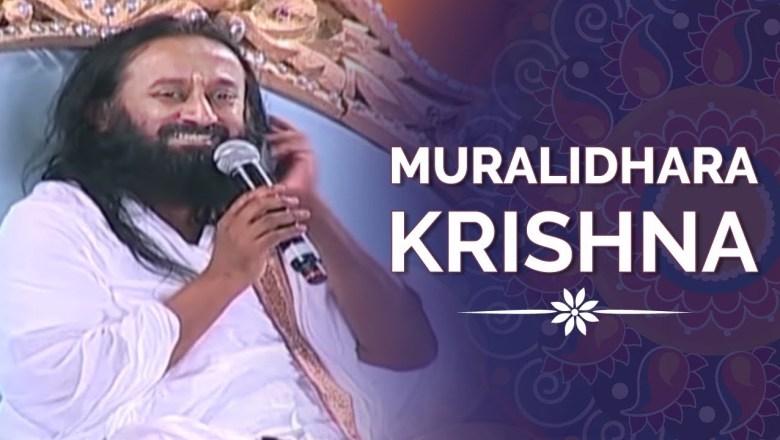 Krishna Bhajan Muralidhara Krishna | Gurudev Singing | Krishnam Vande | Krishna Bhajan Antarnaad | Art of Living