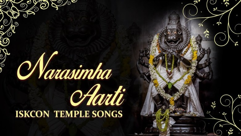 narasimha aarti with lyrics and meaning by lord krishna in ISKCON Temple songs