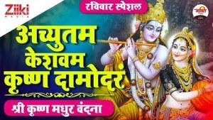 अच्युतम केशवम कृष्ण दामोदरं   श्री कृष्ण मधुर वंदना   श्री कृष्ण भजन   Krishna Bhajan   #BhaktiDhara