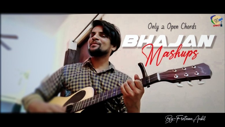Easy Bhajan Mashups |2 Chords play many Songs | Bhajan mashup  with lyrics |Ram Bhajan on Guitar
