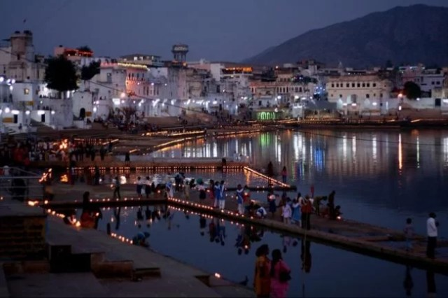 Pushkar Lake evening Images