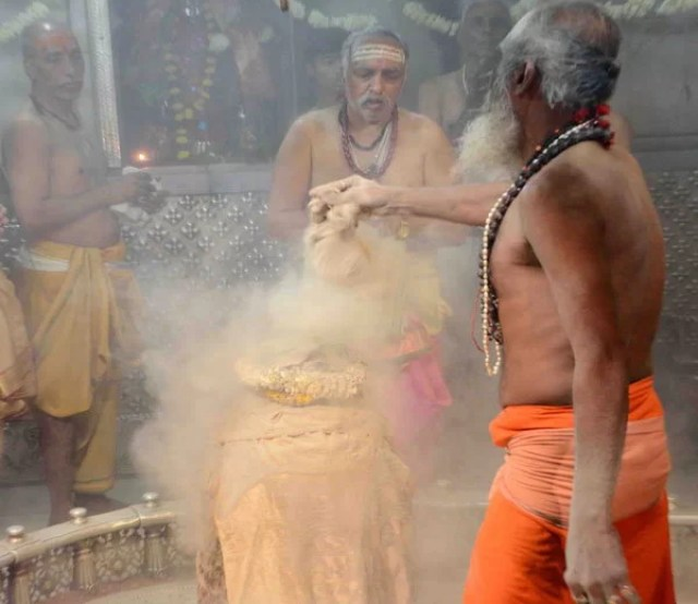 The Bhasm-Aarti is the first ritual conducted everyday at the temple