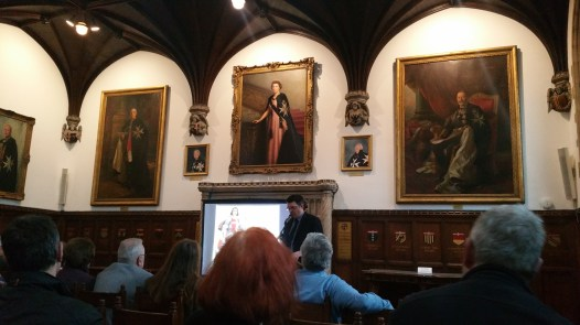 Dr William Purkis gives a public lecture at the Museum of the Order of St John