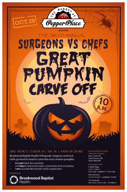 This Year's Surgeons Vs. Chefs Great Pumpkin Carve Off is Oct. 29th