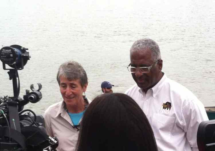 Interior Secretary Sally Jewell and Birmingham Mayor William Bell