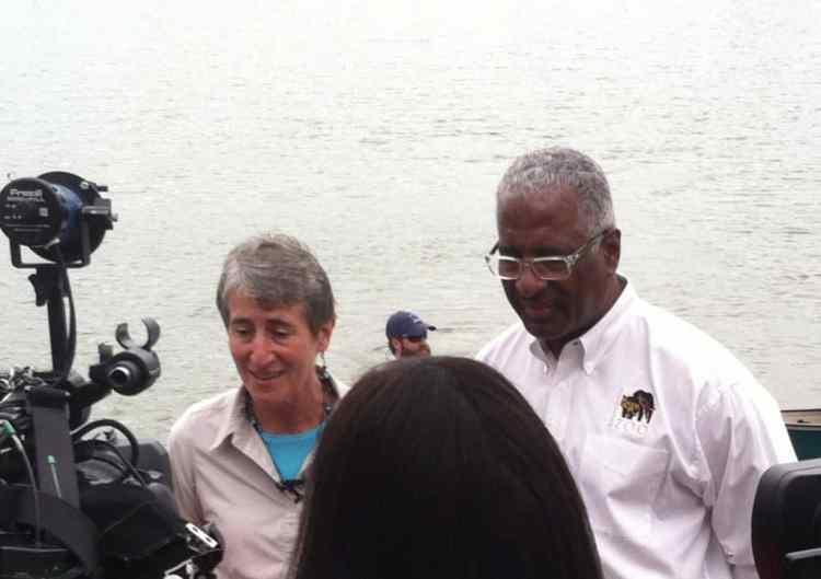 Interior Secretary Sally Jewell and Birmingham Mayor William Bell