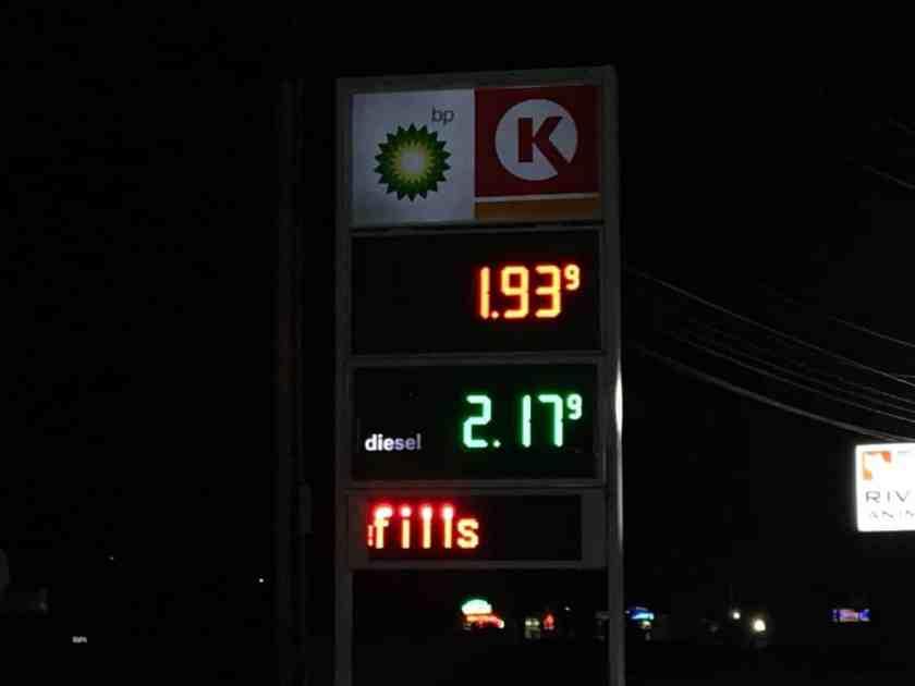 Gas Station on 280 - November 1, 2016