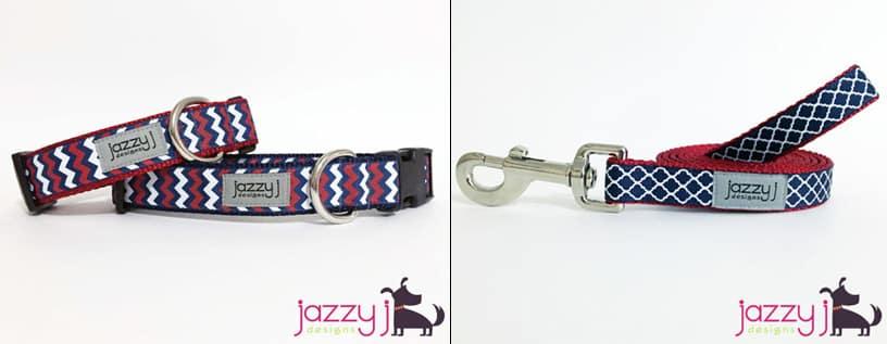 JazzyJ dog collar and leash