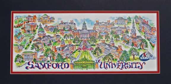 Samford campus map