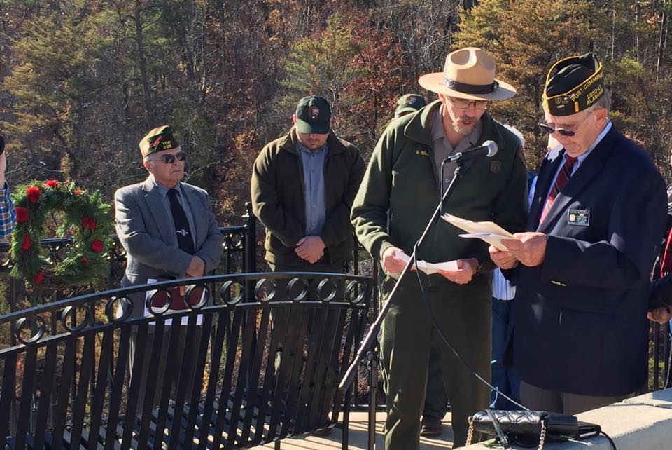 "Remembering Pearl Harbor at Little River Canyon – ""releasing of the wreath"" (photos and video)"