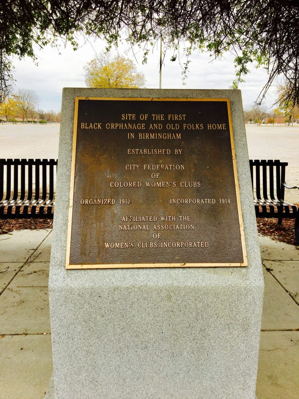 Discovered at Legion Field – Monument to city's first black orphanage and old folks home